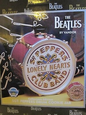 The Beatles Sgt. Peppers Drum Cookie Jar Collectors Edition - Mint in Box