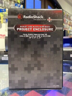 Radioshack Project Enclosure Box 6 X 4 X 2 Inches Ships Next Day Via Usps