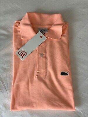 Lacoste Men's NWT Classic Fit PINK f9c 100% Cotton Polo Shirt Size 5 (M)