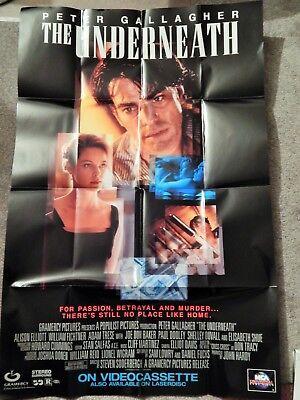UNDERNEATH (VIDEO DEALER 40 X 27 POSTER!, 1990S)  PETER GALLAGHER, ALISON ELLIOT