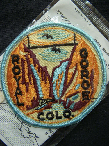 ⭐️ Vintage ROYAL GORGE Colorado PATCH State Souvenir Travel Embroidered NEW ⭐️
