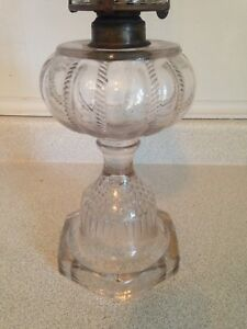 Old Antique Queen Mary Oil Lamp
