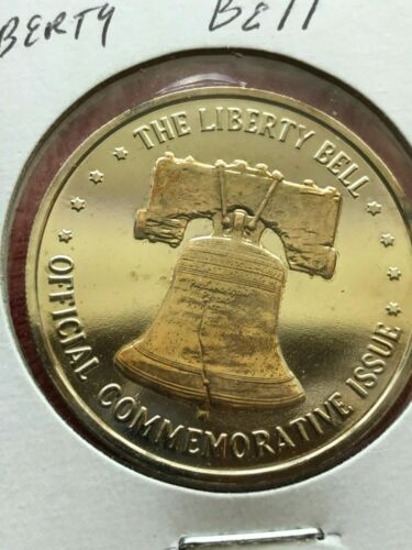 Liberty Bell Official Commemorative Issue Gold Plated Coin