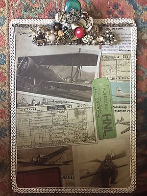 Beautiful Fancy Embellished Bling Clipboard For Home Or Office