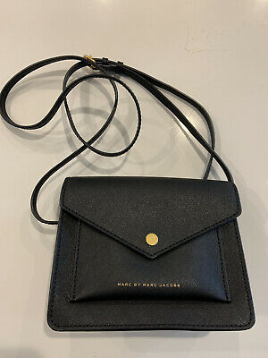 Marc By Marc Jacobs Metropoli Crossbody Purse Black Leather M0006421