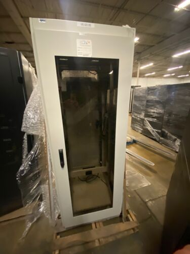 Fully Enclosed APW Server Telecom Rack Cabinets w/ Glass Fronts & Fans & Shelf