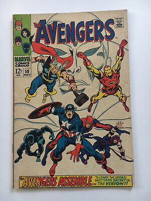 The Avengers #58 Marvel Comics Origin and 2nd App of The Vision Avengers Endgame (The Vision Avengers 2)