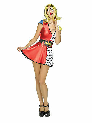 Pop Art Girl Costume (Girls Pop Art Dress Sexy Costume Halloween Fancy Dress)