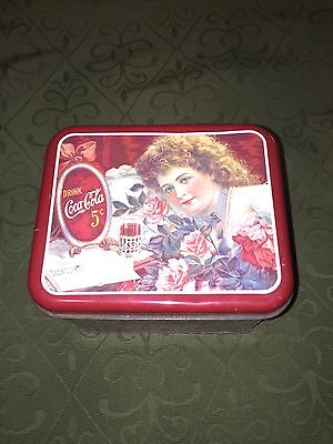 VINTAGE 1984  COCA COLA TIN - MADE IN THE USA - DELICIOUS & REFRESHING