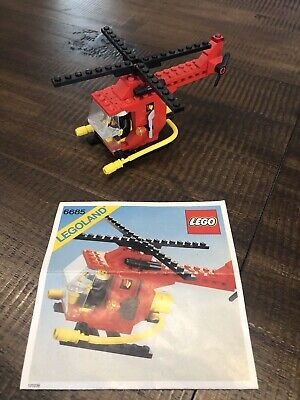 Lego 6685 Fire Copter 1 Complete w/ Instructions Vintage Firefighter No Box