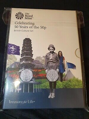 Royal Mint Celebrating 50 years of the 50p British Culture Set