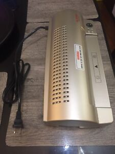 "Aurora laminator 9"" hot/cold, excellent condition for 30 bucks"