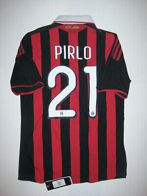 New 2009-2010 Adidas AC Milan Andrea Pirlo Home Kit Calcio Maglia Shirt Jersey