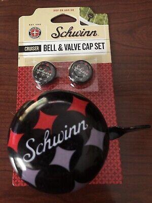 Accessories Schwinn Delmar Boy Bell and Valve Cap Set Pacific Cycle Inc SW76646-4