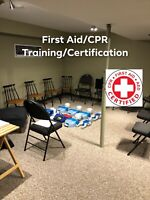 First Aid/CPR December 14/10-2pm Only $60