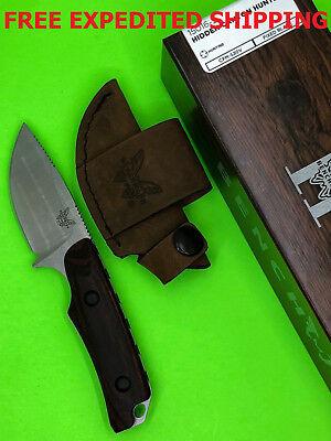 Benchmade HUNT Hidden Canyon Skinner Fixed Blade S30V Knife Wood Handle 15016-2  - Hidden Knives