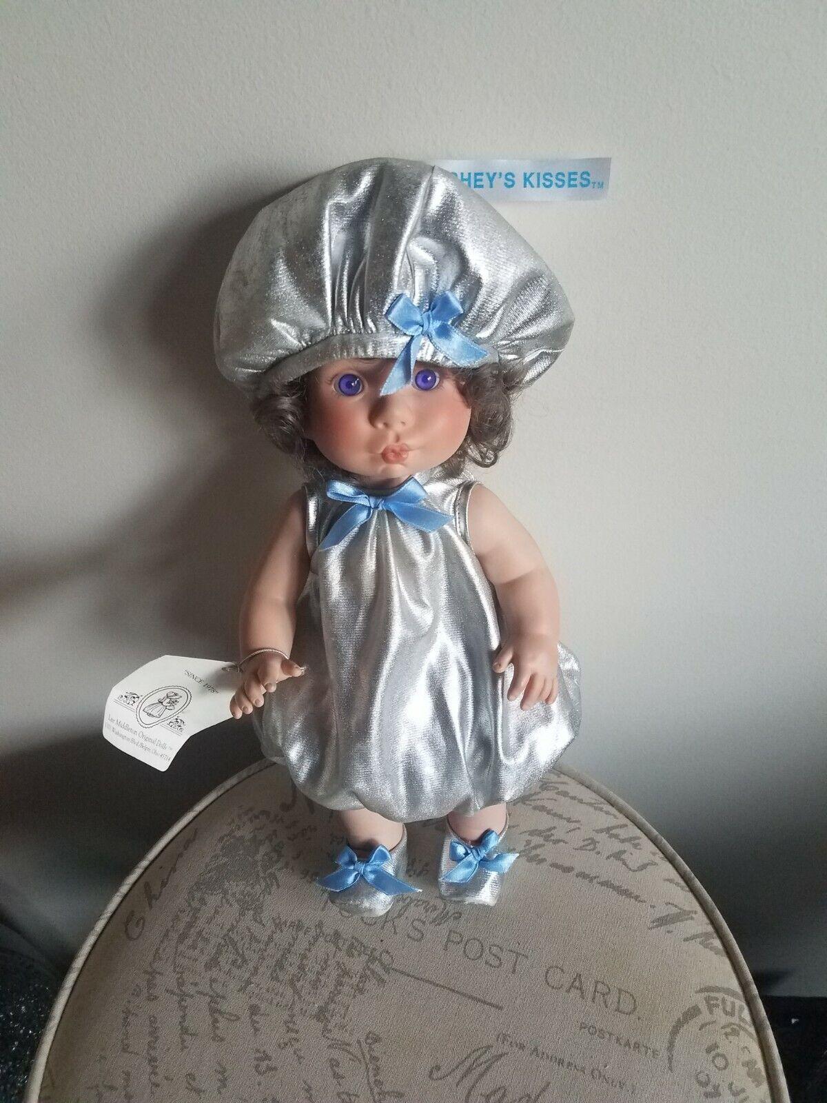 1994 Lee Middleton Hershey s Kisses Vinyl Doll Number 1152 W/ COA Box Tags - $30.00