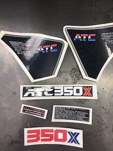 Honda atc 350x stickers