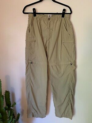 GUC Women THE NORTH FACE convertible pants shorts hiking trail stow pocket Large Trail Convertible Pants