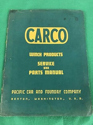 Carco Winch Model J Series 10 Td 24 25 Parts Service Manual Paccar
