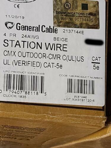General Cable 2137144E GenSPEED 5000 24/4P UTP Cat5e Network CMX/CMR Beige/100ft