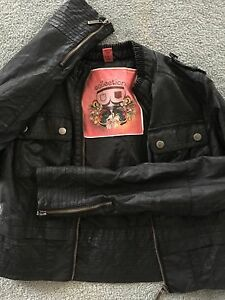 Bomber Style Leather Jacket size Small S