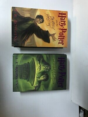Harry Potter 6 & 7 hardcover set Of 2 books 6, 7 Good Condition