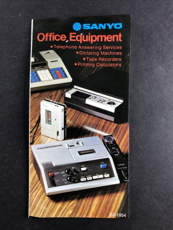 SANYO Office Equipment Catalog Vintage Answering Services Recorders Calculators