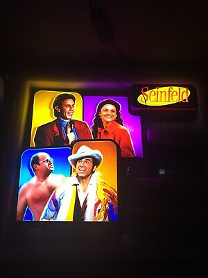 RARE SEINFELD SLOT MACHINE TOPPER JERRY KRAMER GEORGE ELAINE CHECK IT OUT