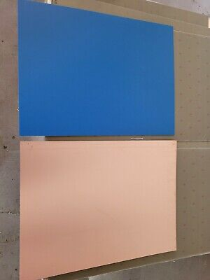 6 Pcs Single Sided Copper Clad Laminate Circuit Boards Fr-4 .060 2 Oz. Blue