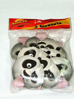 KUNG FU PANDA  8- PARTY BLOWOUTS , MULTI-COLOR    PARTY SUPPLIES