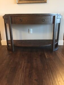 Marble top entry way table