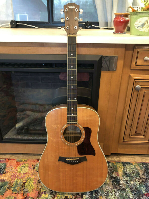 2001 Taylor 410 Acoustic Guitar with original hardshell case, capo, strap, picks