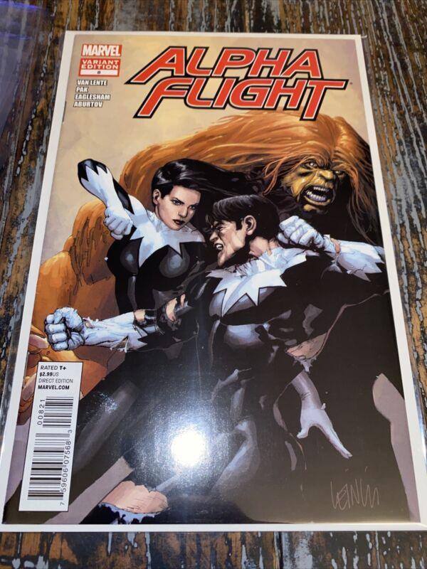 ALPHA FLIGHT 8 LEINEL YU VARIANT 2012 Scarce Low Print MARVEL COMICS Last Issue