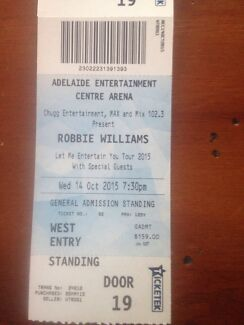 2 Robbie Williams tickets Forestville Unley Area Preview