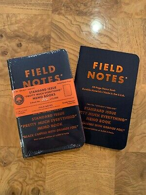 Field Notes Standard Issue Pretty Much Everything Sealed 3-pack 1521/5000 +1Book