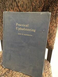 Book 1940's upholstery manual with cotton binding Dingley Village Kingston Area Preview