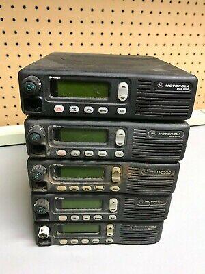 Lot Of 5 Motorola Mcs 2000 M01hx-812w Two-way Mobile Radio Untested