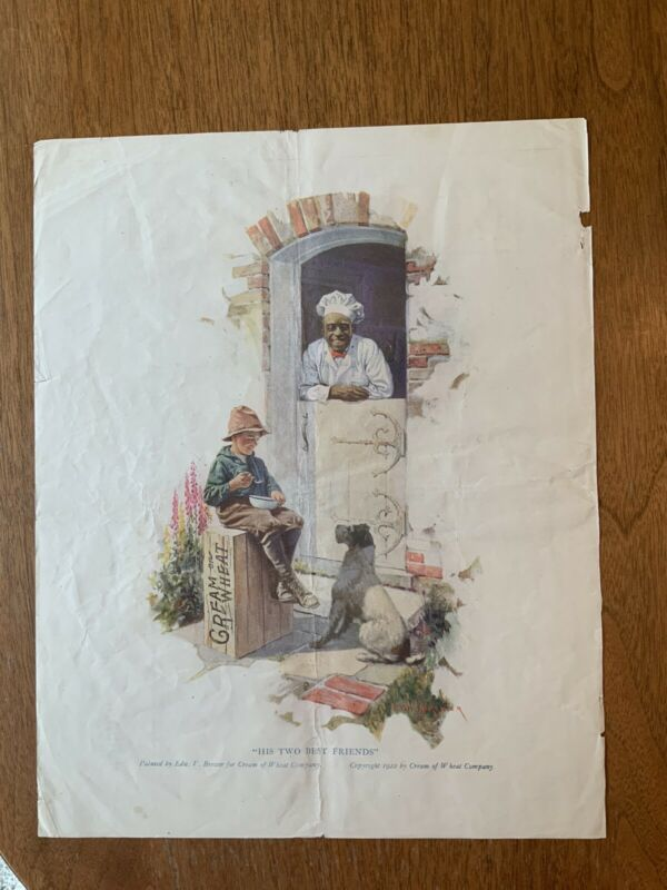 Original Cream Of Wheat Print Ad 1922 His Two Best Friends