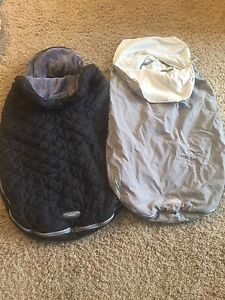 JJ Cole toddler car seat / stroller covers. Set of 2