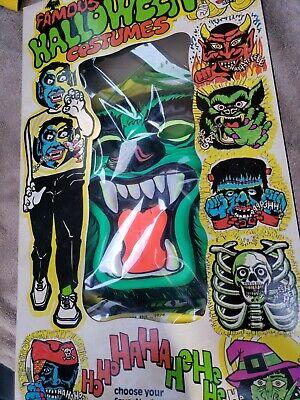 Vintage Halloween Costume Wolf large 12-14 Box 1974 Kusan TN New Okd Stock