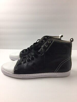Android Homme High Top Leather Canvas Black Sz 10