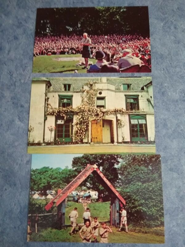 LOT 3 Epping Forest England GILWELL REUNION Boy Scouts of America postcard BS1
