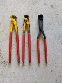 3 pairs of nips, end cutting pliers 290mm