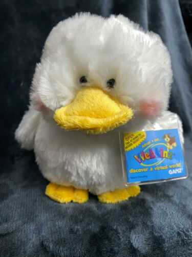 Webkinz Duck, NEW with sealed code tag, HM148, RARE, Classic, Smoke-free, Easter