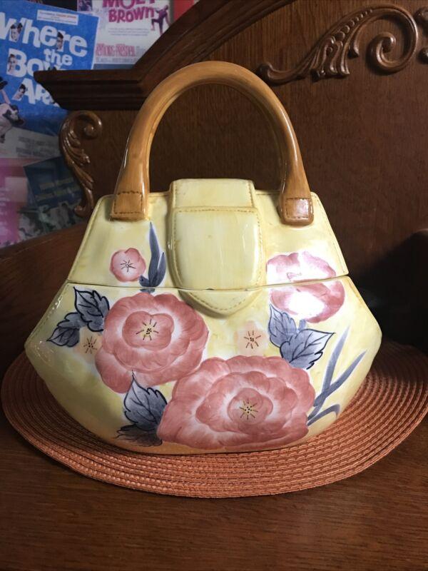Ceramic Purse Cookie Jar