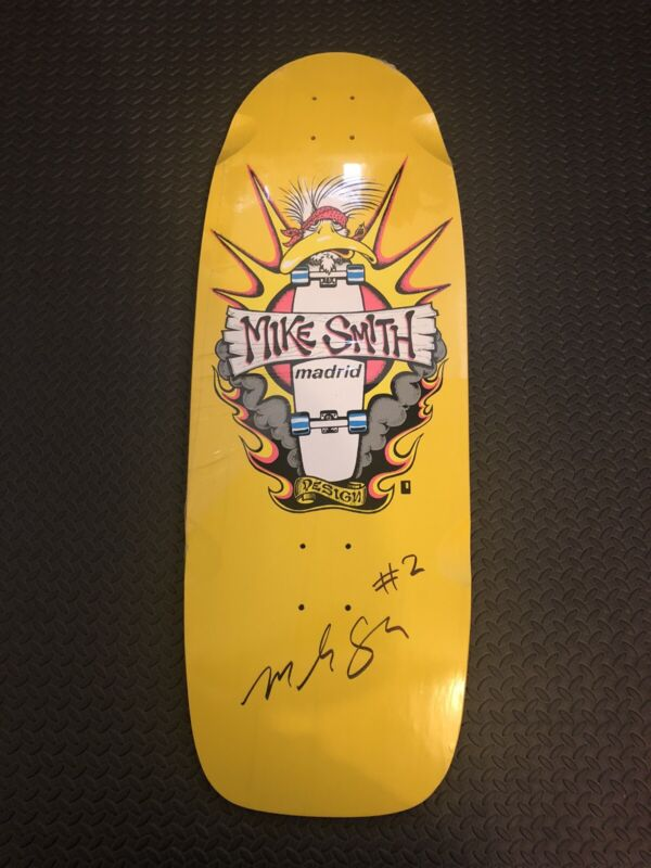 Madrid Mike Smith Signed Deck