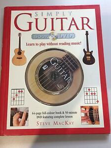 Simply Guitar Book &a DVD by Steve MacKay Morley Bayswater Area Preview
