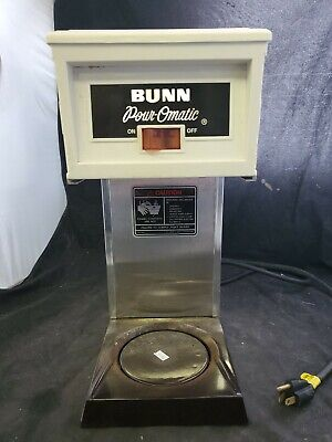 Vtg 1985 Bunn 658 Coffee Brewer Pour O Matic Retro Commercial Stainless White