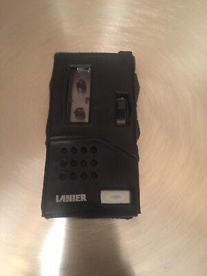 Vintage Rare Lanier P-134 Micro Cassette Recorder Woriginal Leather Case.
